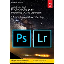 Adobe Creative Cloud Photography plan with 20GB Student Teacher Edition: Photoshop CC + Lightroom CC | 1 Year Licence | Online Code & Download