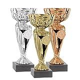 Coppa DEPICE serie, oro, Argento, Bronzo, 19 cm - TRO FS-1571L