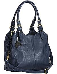 Big Handbag Shop BHBS Mehrere Taschen mittleren Damen Tasche mit einem langen Riemen 33x264x13 cm (BxHxT)