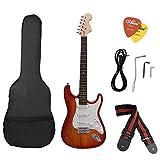 ammoon ST Guitare électrique Basswood Corps Palissandre avec Gig Sac ...