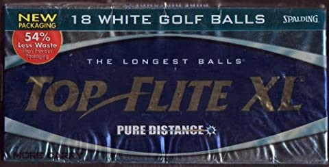 18 White Golf Balls Top Flite XL The Longest Balls Pure Distance by Top Flite