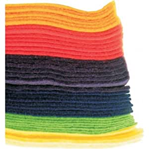 40 FELT SHEETS IN A4 SIZE ASSORTED COLOURS X39