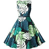 29b7f6fc28 Vestido sin Mangas Uniforme con Estampado Flores Faldas Camisolas para Mujer  Briskorry Fiesta Vestido para Mujer