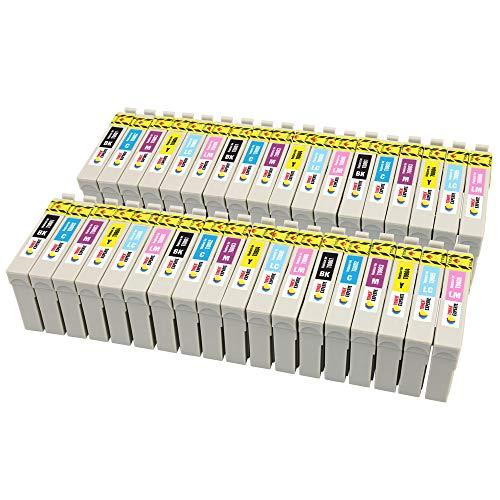 TONER EXPERTE® 36 XL Cartouches d'encre compatibles avec Epson T0807 Stylus Photo P50 PX830FWD PX820FWD PX720WD PX730WD PX710W PX700W PX800FW PX810FW RX585 R265 PX660 RX560   Grande Capacité