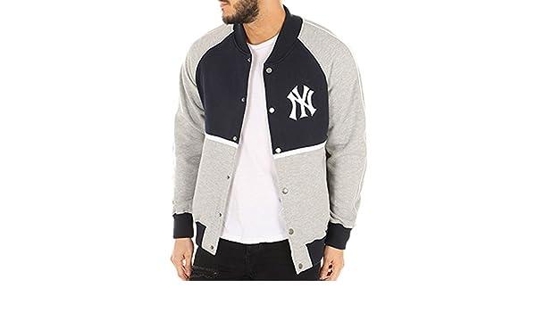 Majestic Giacca MLB New York Yankees Fleece Letterman Blu Grigio Formato  L  (Large)  Amazon.it  Scarpe e borse 3e35645246d3