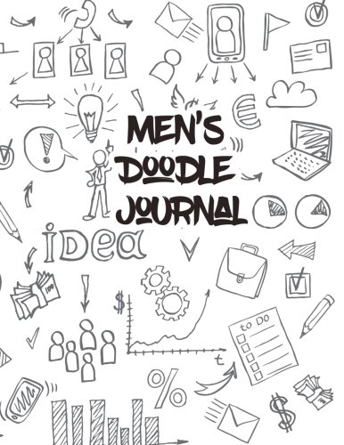 mens-doodle-journal-85-x-11-120-unlined-blank-pages-for-unguided-doodling-drawing-sketching-writing