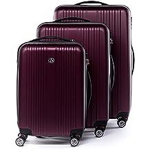 FERGÉ® Juego de 3 maletas de viaje TOULOUSE trolley funda rígida 4 ruedas