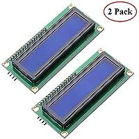 Electrely 2 Paquetes HD44780 1602 Pantalla Módulo de LCD en Serie Retroiluminada Azul con Interfaz IIC/I2C 2X16 Caracteres