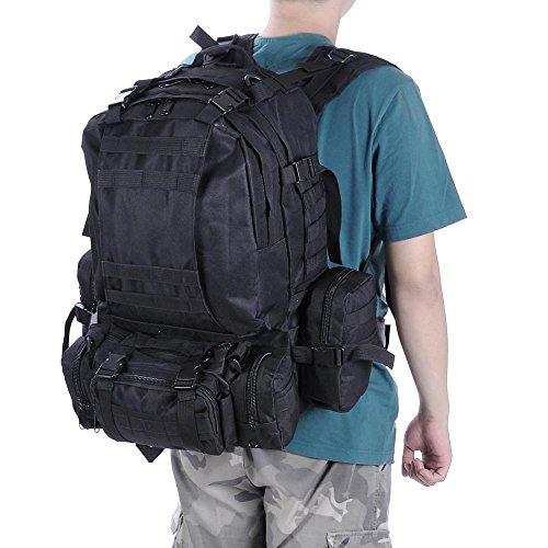 Zaino tattico militare da 55 l, impermeabile, per uomo e donna, per attività all'aperto, arrampicata, viaggio, campeggio, Forest Digital Camouflage ACU