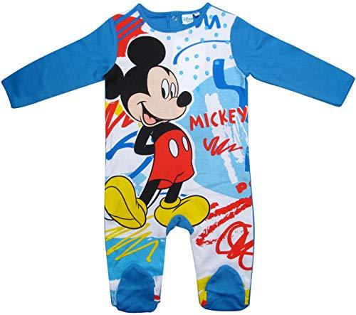 Mickey Mouse Strampelanzug Disney Jungen (Marine, 68)