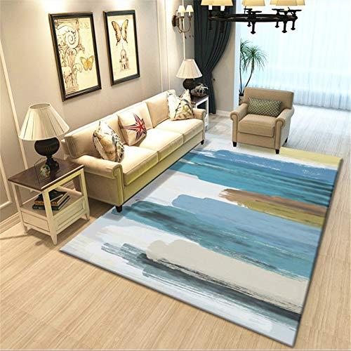 No 3D Alfombras Salon Grandes Modernas Design Pelo Corto Suave Shaggy Antideslizante Lavables Acuarela...