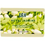 [Sponsored Products]Lass Naturals Royal Jasmine Soap – Handmade Bathing Bar With Pure Essential Oils And Aloe Vera, 125g – Skin Care