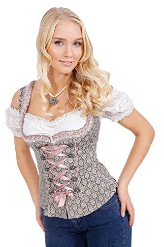 Michaelax-Fashion-Trade Krüger - Damen Trachten Mieder-Romantisches Trachtenmieder in beige- Dorothea (Artikelnr. 35541-715), Größe:44, Farbe:Beige