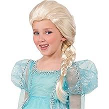 GenialES® Disfraz de Peluca Infantil Larga Plateada Longitud 92cm en Trenza para Cumpleaños Carnaval Cosplay