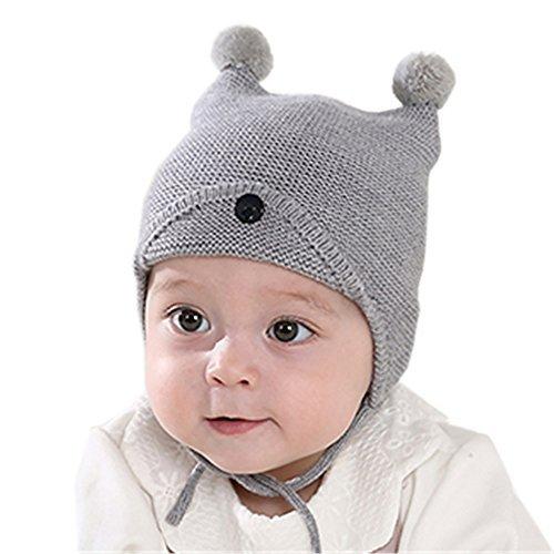 Entzückendes Baby, Kind, warmer, Winter- Mütze, Ohren geschützt, gestrickt Baumwolle, Mütze für - Aus Mütze Baumwolle Gestrickte