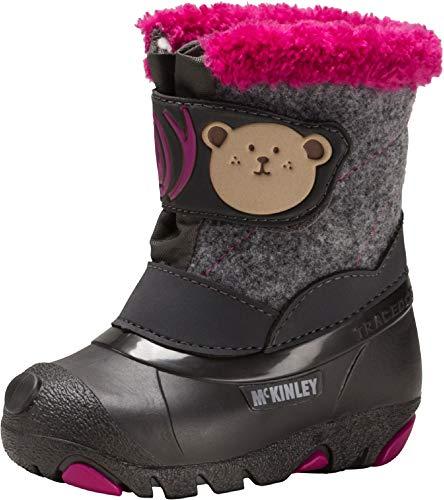 McKINLEY Unisex-Kinder Teddy Trekking-& Wanderstiefel, Grau (Grey Dark/Pink 900), 23 EU -
