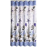 Può & reg; Tenda da doccia, tenda da doccia impermeabile da bagno in tessuto poliestere stella oceanica (dimensioni: 150 * 200 cm) (Color : -, Size : 150x200cm)
