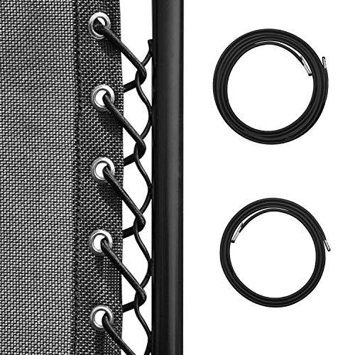 Homgaty - Conjunto de 8 Cordones elásticos universales de Repuesto para Silla de Gravedad Cero, reclinable, Silla Tumbona de 2,2...