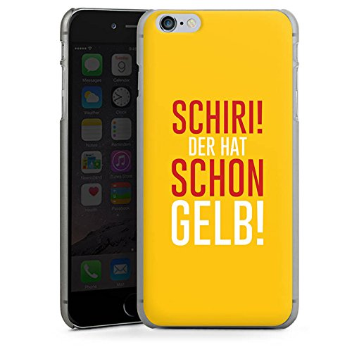 Apple iPhone X Silikon Hülle Case Schutzhülle Fußball Kreisliga Schiri Hard Case anthrazit-klar