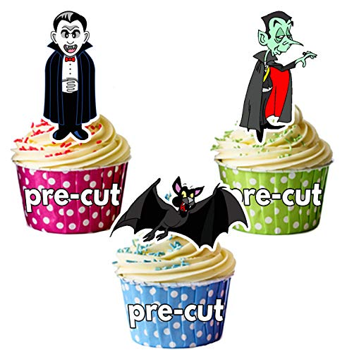 loween Vampire Party Mix essbare Cupcake Topper/Kuchen Dekorationen (36 Stück) ()