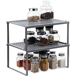 NEX Organiseur de placard, solution d'économie d'espace dans les cuisines, salles de bains, salons, chambres, placards Insert pour étagère.