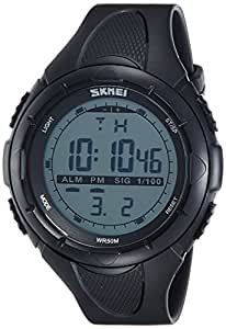 SKMEI Analog-Digital Green Dial Men's Watch - DG1025 (Gent Size BLK)