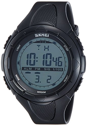 SKMEI Analog-Digital Green Dial Men\'s Watch-DG1025 (Gent Size BLK)