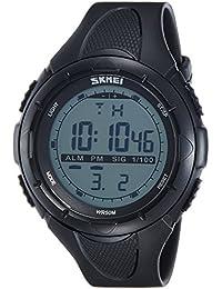 SKMEI Analog-Digital Green Dial Men's Watch-DG1025 (GENT SIZE BLK)
