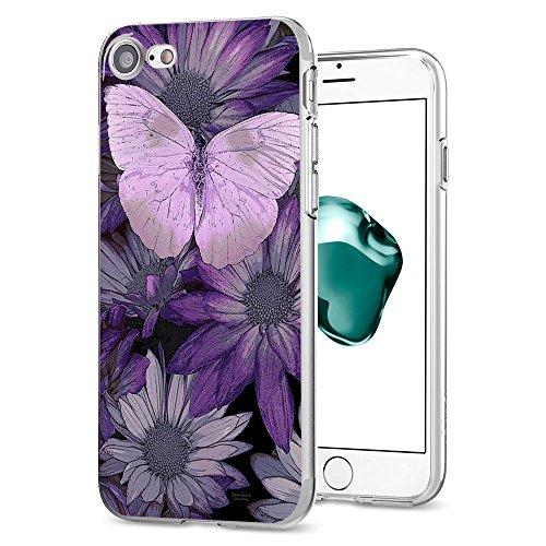 iPhone 7 Custodia Marmo TPU Gel Silicone Protettivo Skin Custodia Protettiva Shell Case Cover Per Apple iPhone 7 (4,7) (4) 7