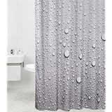 Cortina de ducha de 180x 200cm, impermeable, antimoho, alta calidad, con 12anillas