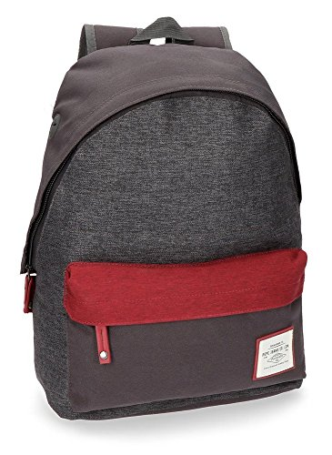Pepe Jeans Quilted Sac à dos loisir, 42 cm, 22.79 liters, Gris