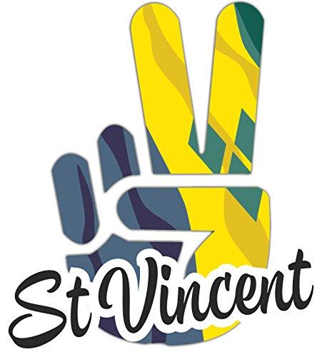 INDIGOS UG - Aufkleber / Autoaufkleber / Sticker - St Vincent - Victory - Sieg - Heckscheibe, Kofferraum - 25x20 cm