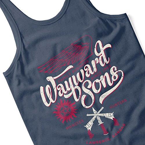 Supernatural Wayward Sons Mens Vest Navy Blue
