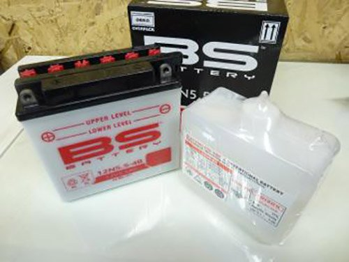 Batterie BS Battery 12V avec acide moto Yamaha 125 WRX 2009-2013 12N5.5-4B Neuf