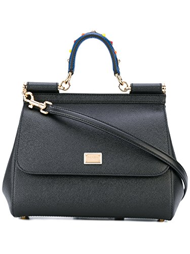 Dolce-E-Gabbana-Womens-BB6002AI35280999-Black-Leather-Handbag