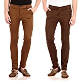 FlyJohn Men's Combo of Two Colors Slim F...