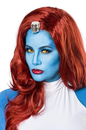 Sexy Mystic Mystique Perücke Blau Langhaar Rot Karneval Halloween Damen Damenperücke X Men TV