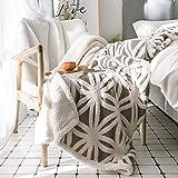 GJC-Tagesdecken Lamm SAMT Decke Werfen Einfache Einfache Einzelne Abdeckung Bein Schal Decke Korallen SAMT Büro Sofa Decke,Brown,130 * 160CM
