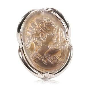 Bague style vintage avec un camée en nacre paua abalone - Bijoux fantaisie, rétro, vintage, original, pas cher