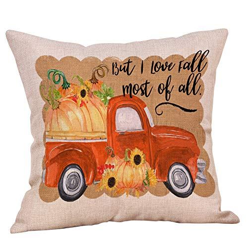 LOLIANNI Halloween Brief Kürbis Gedruckt Kissenbezug Home Auto Bett Sofa Decor Kissenbezug 45 X 45 cm Kissenbezug (Baby Kostüm Dubai)