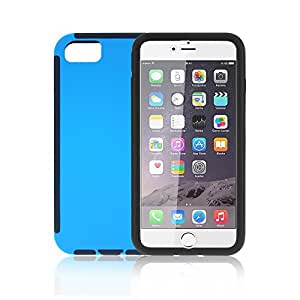 "Hard Case for iPhone 7 with Screen Protector, LynneTech Full Body Coverage (Rubberized PC Cover)(Silicone Bumper Frame) Non Slip Cases Covers for Apple iPhone 7s 4.7"" (Blue)"