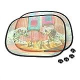 Ombrelloni schermo 2Pcs finestra laterale con auto di aspirazione del tergicristallo Copertura Curtain parabrezza Ombra auto-styling, Cane di scacchi