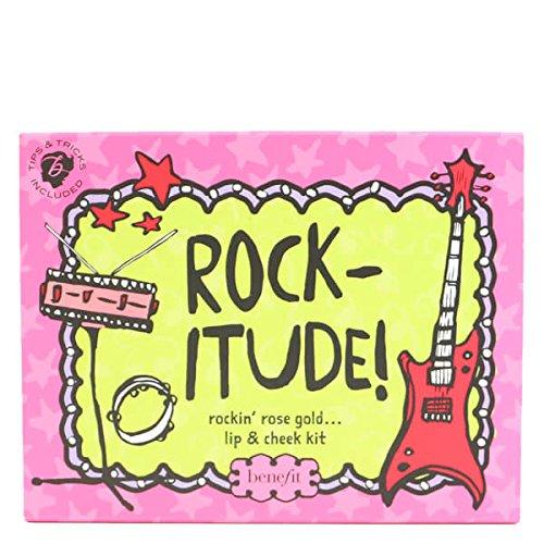 Benefit Rockitude. Party Set, der Rockin 'Rose Gold Lip und Cheek Kit von Benefit 's beliebtesten Wange und umfasst Vier - Make-up-kit Jungen