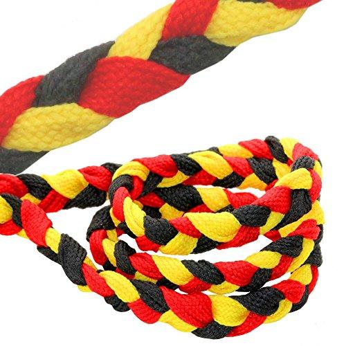 tumundo Set Fußball Fan-Artikel Deutschland Fahne WM EM 2016 Armband Haarband Ohrringe Fake Plug Creolen Krawatte, Modell:Mod 2 - Armband