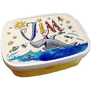 Brotdose mit Namen, Hai, personalisierte Lunchbox, Rosirosinchen, Rosti Mepal