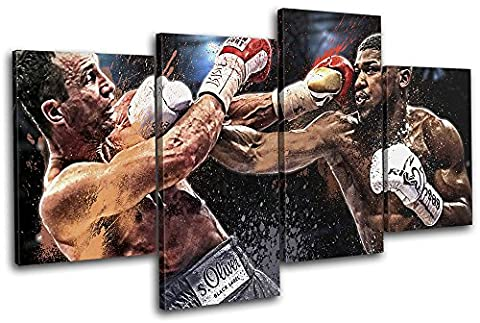 Bold Bloc Design - Boxing Joshua Klitschko Grunge Sports 120x68cm MULTI Canvas Art Print Box Framed Picture Wall Hanging - Hand Made In The UK - Framed And Ready To Hang