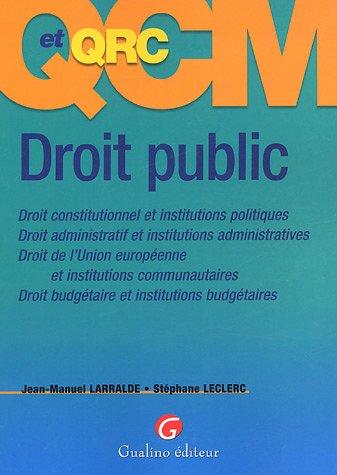 QCM et QCR Droit public