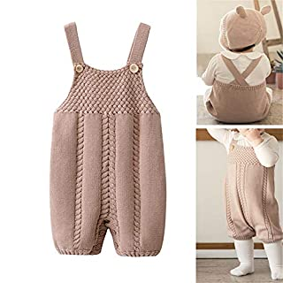 Auro Mesa Infant Baby Knit Romper Overalls Cute Infant Clothing, Baby Onesies Unisex,Baby One-Pieces Jumpsuit Outfit Clothes (3-6M)