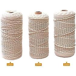 Cuerda de algodón Puro Grueso para Macramé