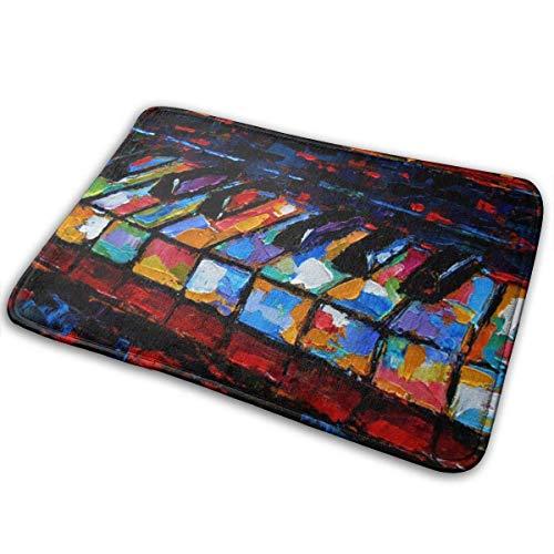 NI Piano Keys Pintura Felpudo Antideslizante Alfombrilla